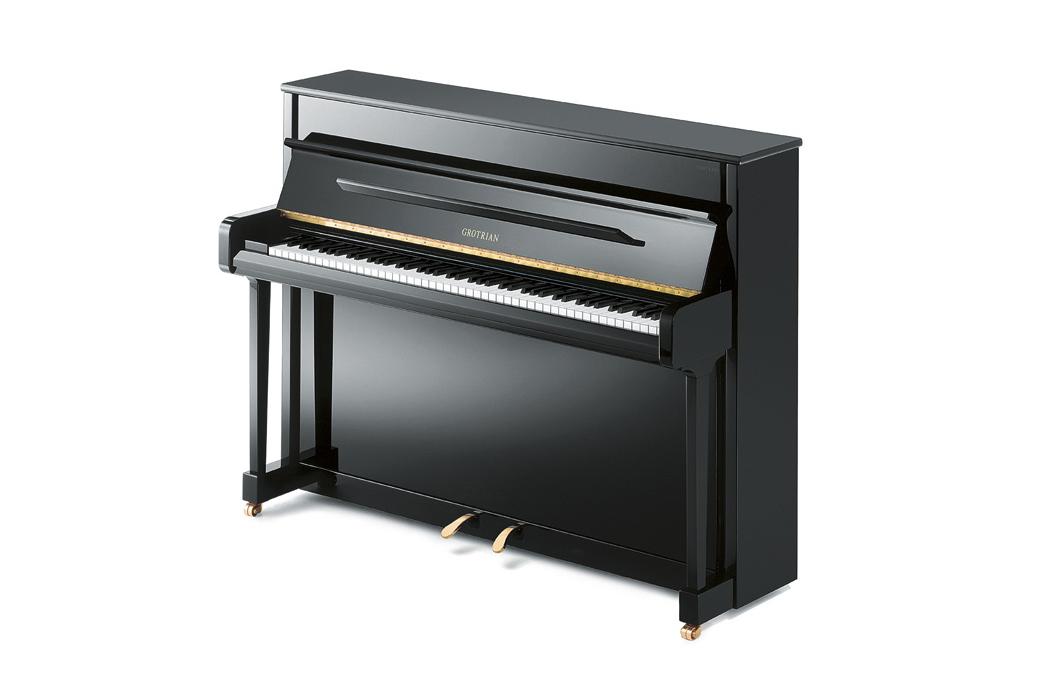 Grotrian-Steinweg Contour Upright Piano - Ben Wheeler Pianos